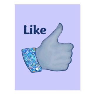 FB Like Button Postcard