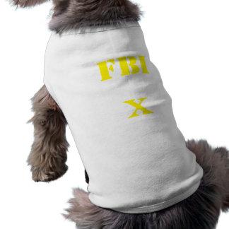 FBI Agent X(Name) Sleeveless Dog Shirt