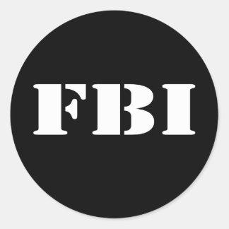 FBI CLASSIC ROUND STICKER