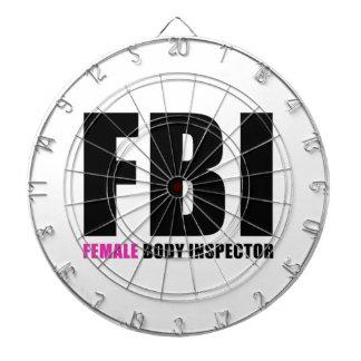 FBI Female Body Inspector Dartboards