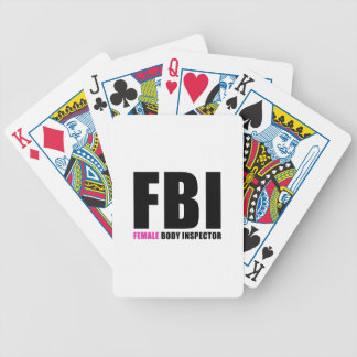 FBI Female Body Inspector Poker Deck