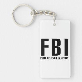 FBI Firm Believer in Jesus Key Ring
