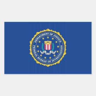 FBI Flag Rectangular Sticker