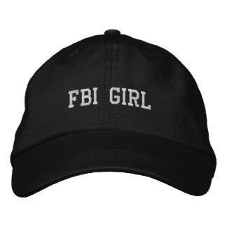 FBI GIRL EMBROIDERED HAT