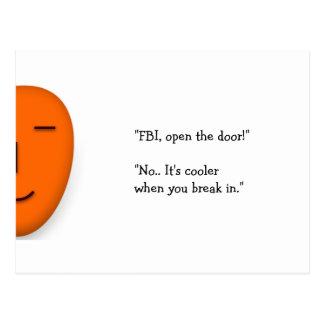 FBI Open The Door.. | Funny Joke Send a Smile Card
