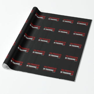 FBI Profiler in Training Wrapping Paper