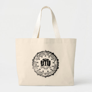 FBI Rubber Stamp Large Tote Bag