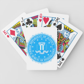 FBI Seal In Blue Bicycle Playing Cards