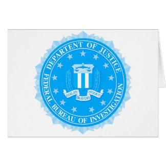 FBI Seal In Blue Card