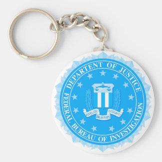 FBI Seal In Blue Key Ring