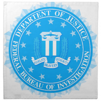 FBI Seal In Blue Napkin