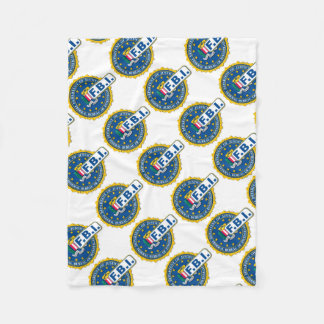 FBI Seal Mockup Fleece Blanket