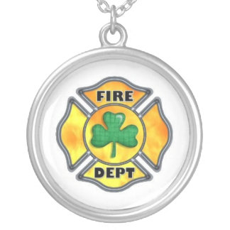 FD Shamrock White Silver Plated Necklace