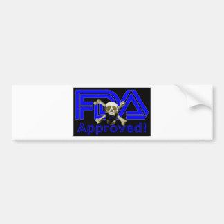 FDA Approved (Black) Bumper Sticker