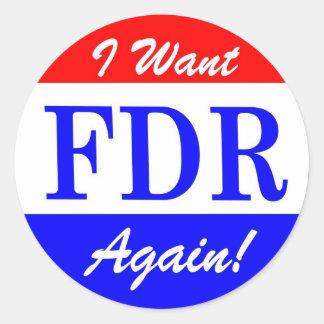 FDR - America's Greatest President Tribute Round Sticker