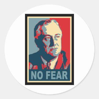 FDR No Fear Round Sticker
