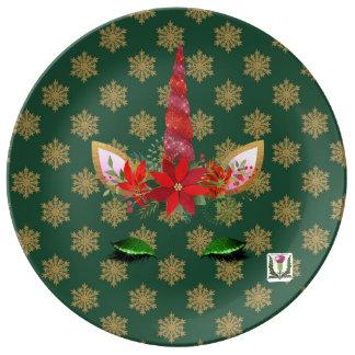 """FD's Unicorn Porcelain Plate 10.75"""" 53086"""