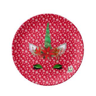 """FD's Unicorn Porcelain Plate 8.5"""" 53086A"""
