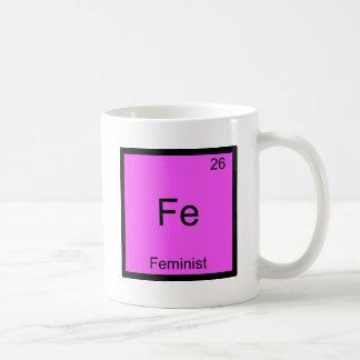 Fe - Feminist Funny Chemistry Element Symbol Tee Basic White Mug