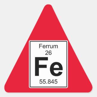 Fe - Ferrum Triangle Sticker