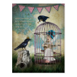 Fear and Freedom Inspirational Quote Postcard