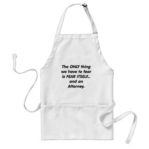 fear attorney aprons