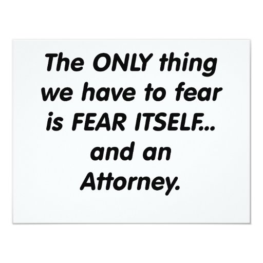 fear attorney custom announcements