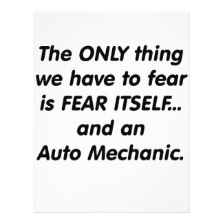 fear auto mechanic 21.5 cm x 28 cm flyer