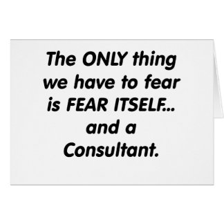 fear consultant greeting card