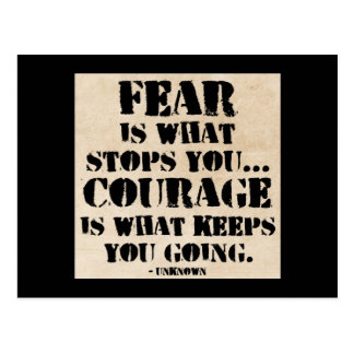 Fear / Courage Motivational Quote Postcard