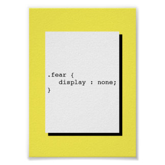 Fear Display None Funny CSS Poster