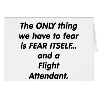 fear flight attendant card