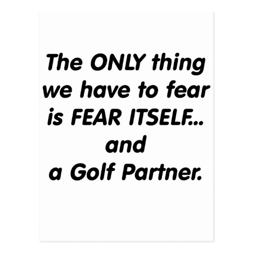 Fear golf partner post cards