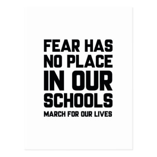 Fear Has No Place In Our Schools Postcard