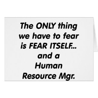 fear human resource manager card