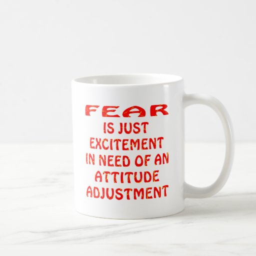 Fear Is Excitement In Need Of  Attitude Adjustment Mug
