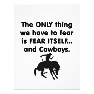 Fear Itself Cowboys Personalized Flyer