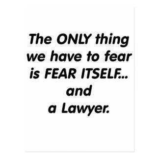 Fear Lawyer Postcard