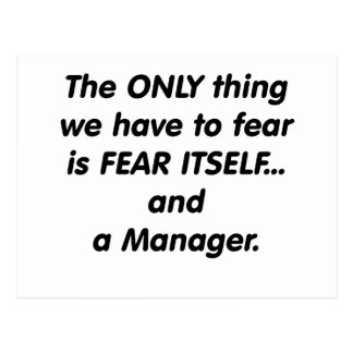 Fear Manager Postcard