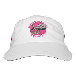 Fear no Evil Honey Badger Funny Animal Pink Design Hat