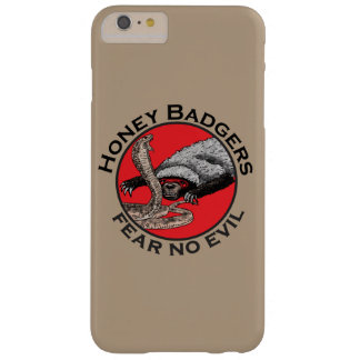 Fear No Evil Honey Badger Funny Animal Red Design Barely There iPhone 6 Plus Case