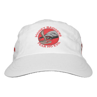 Fear No Evil Honey Badger Funny Animal Red Design Hat