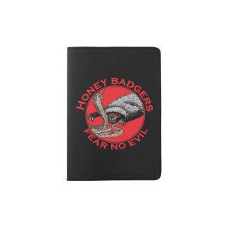 Fear No Evil Honey Badger Funny Animal Red Design Passport Holder