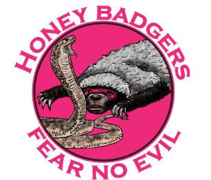 1df84ccf240 Fear No Evil Honey Badger Funny Pink Animal Design Trucker Hat