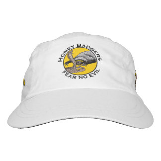 Fear No Evil Honey Badger Snake Animal Art Design Hat