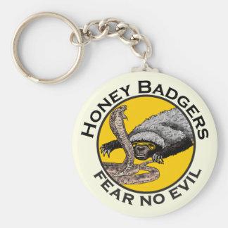 Fear No Evil Honey Badger Snake Animal Art Design Key Ring