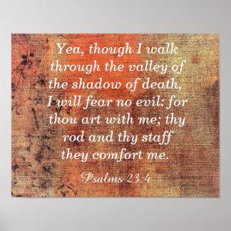Fear No Evil -- Psalms 23:4 - Art print