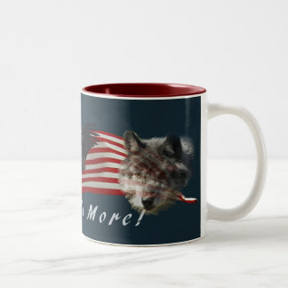 """Fear No More"" Eagle, Wolf, Bear & US Flag Mug"