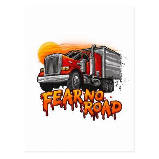 Fear No Road - Trucker Shirt Postcard