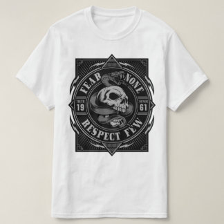 Fear None Skull With Snake T-Shirt